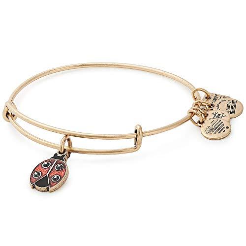 Alex and Ani Ladybug Charm Bangle Bracelet - Rafaelian Gold Finish