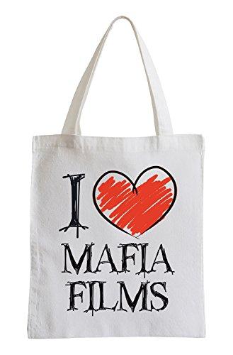 I love Mafia Films Fun Jutebeutel