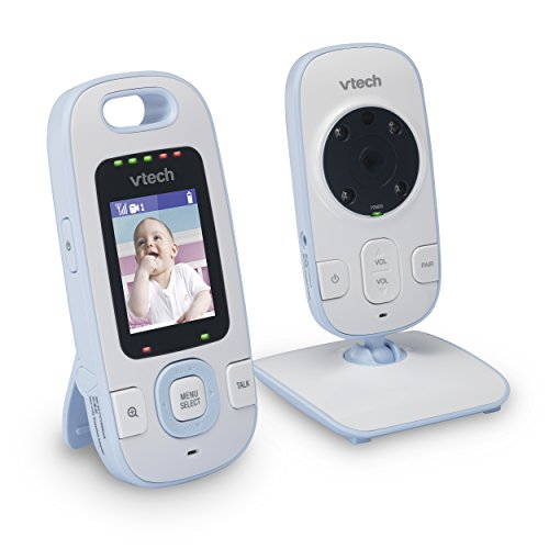 VTech BV73121BL Digital Video Baby Monitor with Full-Color and Automatic Night Vision, Blue