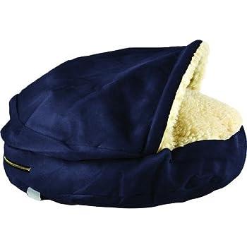 Amazon.com : Snoozer Luxury Cozy Cave Pet Bed Fabric: Navy