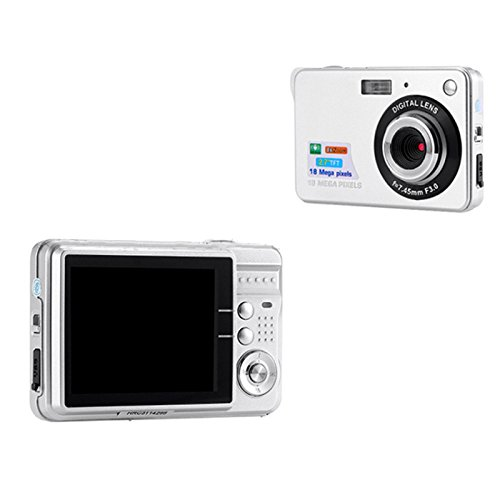 TOPmountain 720P 8X Zoom Hd Digital Camera Digital Video Camera Point and Shoot Digital Camera for Kids Outdoorr-White