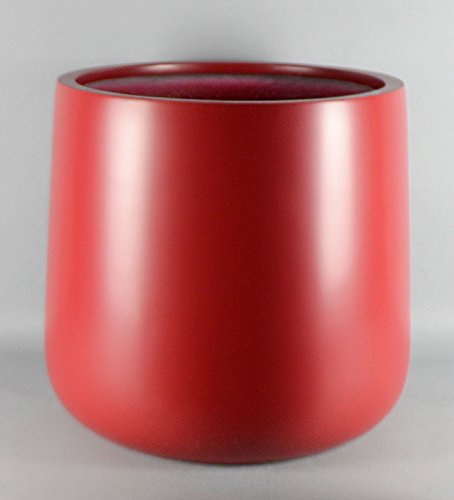 Red Round Bottom Fiberglass Planter Flower Pot 20''H x 20'' Diameter - by VaseSource by VaseSource