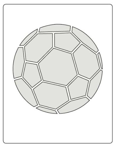 Soccer Single (Faux Like a Pro Soccer Ball Stencil, 5.5 by 7-Inch, Single Overlay)