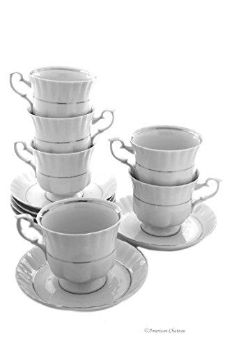 8 oz porcelain coffee cups - 8