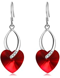 Heart of Ocean 925 Sterling Silver Dangle Women Earrings