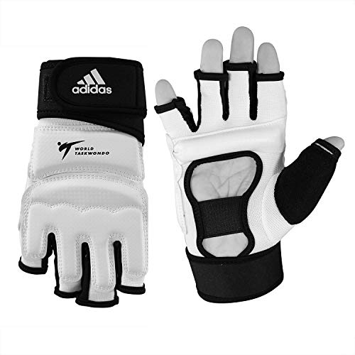adidas Taekwondo Hand Protector Hand Guard Hand Gear Gloves TKD WTF Approved S to XL (4.XL(7.9inch/20cm))