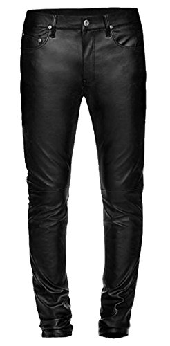 Leather Jeans, Biker Style, Skinny Pants, Men in Black, Basic 5 Pocket Skin Tight