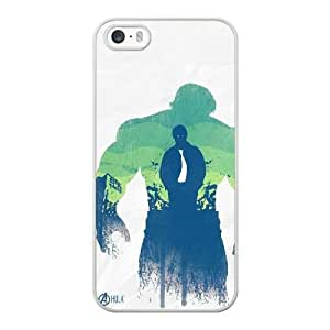 Fashion Style for iPhone 5 5s Cell Phone Case White Superheroes Hulk DCW0996933