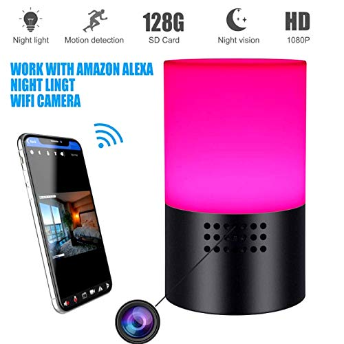 Spy Camera Wireless Hidden -Wifi Nanny Cam-1080 HD Hidden Security Cameras for Home- Lamp Surveillance Video Cam-Motion Detection - Live Remote Viewing -Smart Snap Cams with Cell Phone App ()