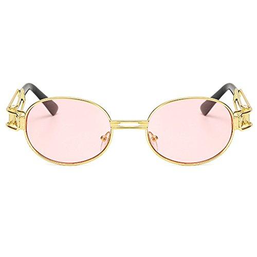 soleil Juleya C5 Steampunk lunettes rétro femmes en hommes Vintage ronde ovale métal lunettes de qtr0tO