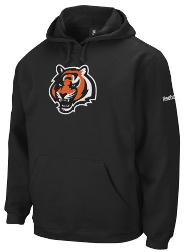 NFL Men's Cincinnati Bengals Black End Zone Playbook Hood (Black, Medium)