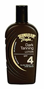 Hawaiian Tropic Dark Tanning Lotion with Sunscreen, SPF 4, 8-Ounce Bottles (Pack of 3)