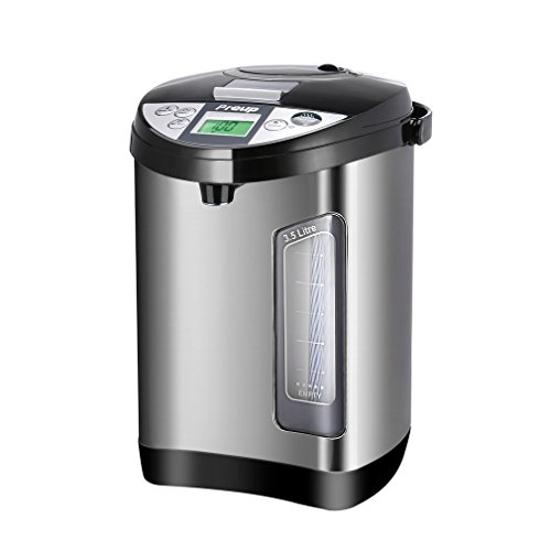 3.5 Liter Electric Water Boiler and Warmer Preup Stainless Steel Electric Hot Water Dispenser 1 Gallon Thermo Pot