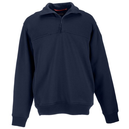 - 5.11 Tactical Tall 1/4 Zip Job Shirt, Fire Navy, X-Large