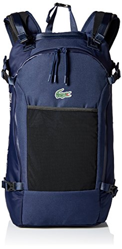 Lacoste Men's Match Point Nylon Backpack, Peacoat, 00