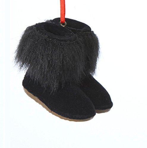 Faux Fur Christmas Boot - 6