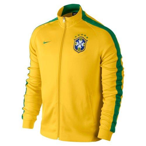 Brazil N98 Authentic Track Jacket (Varsity Maize/pine Green) (XL)