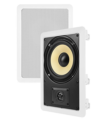 Theater Solutions TS65W 6.5-Inch Kevlar In Wall Speakers (White) by Theater Solutions