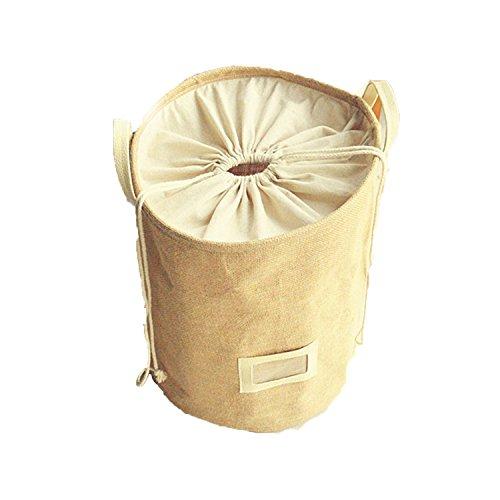 Foldable Laundry Basket Storage Bag Practical Hamper Bag, Foldable Lightweight Closet Cotton Linen storage baskets Bag with Closing Top Perfect for College Dorms, Kids Room & Bathroom