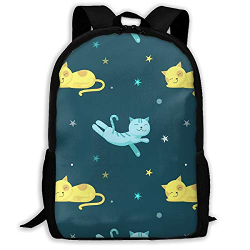 SARA NELL School Backpack Cute Sleeping Cats Bookbag Casual Travel Bag For Teen Boys Girls]()