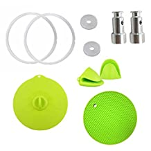 (Set of 8)Pressure Cooker Pot/Instant Pot Accessories Silicone Starter Kit - Pair of Mini Mitts, Pot Holder, Sealing Lid,2 Sealing Rings and 2 Universal Replacement Floater
