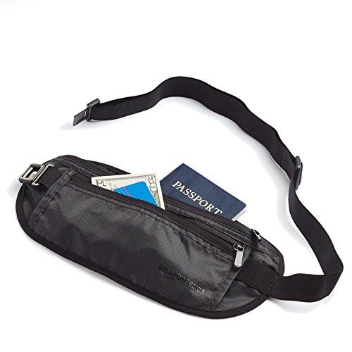 Travel Amazonbasics con Fanny tecnologia Rfid nero Pack xHww06q1z