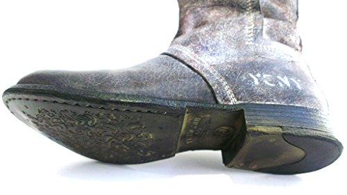 Yellow Cab Stiefel, Größe 36, Antikleder darkbraun, herausnehmbares Fußbett für eigene lose Einlagen, Vegas 29098