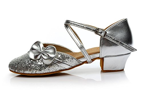 con scarpe 3 da moderne da per da scarpe ballo autunno femminile ballo EU31 da ballo ballo 5 da Scarpe da scarpe ballo latino scarpe altezza donna ballo Little Kids UK12 cm bambini ShangYi da 64Tpw4q