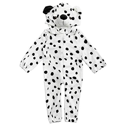 HollyHOME Baby Romper Dalmatians Puppy Cosplay Costume Cuddly Dog Toddler Cosplay Pajamas One Piece Jumpsuit Animal Cosplay Outfits Sleeping Wear for 12-18M (Sleeping Dogs Best Outfit)