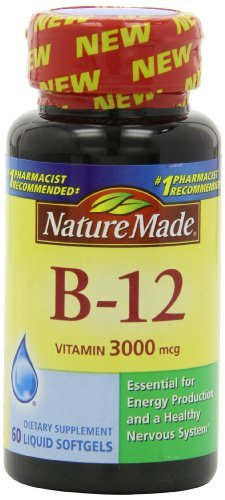 Nature Made Vitamin B 12 Softgels, 3000 Mcg, 60 Count