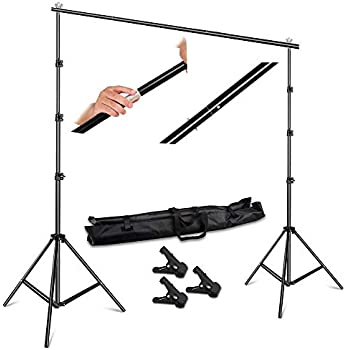 T Backdrop Stand PVC Background Photography Adjustable Support System Clamp