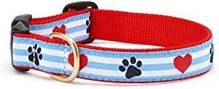 product image for Up Country Pawprint Stripe Dog Collar