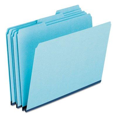 - Pressboard Expanding File Folders, 1/3 Cut Top Tab, Legal, Blue, 25/Box