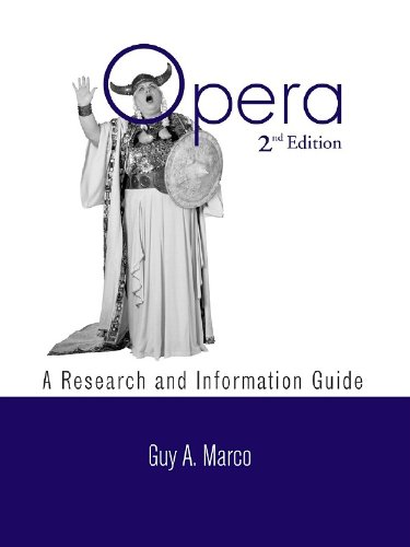 Download Opera: A Research and Information Guide (Routledge Music Bibliographies) Pdf