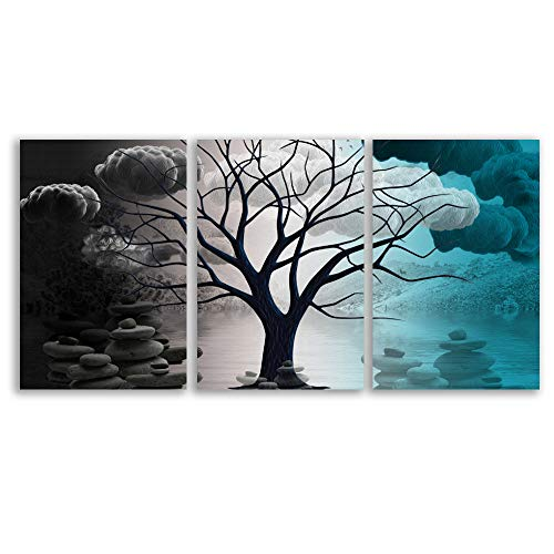 Abstract Cloud Tree Pictures Home Wall s for Bedroom Living Room Oil Paintings Framed x 3 Panels