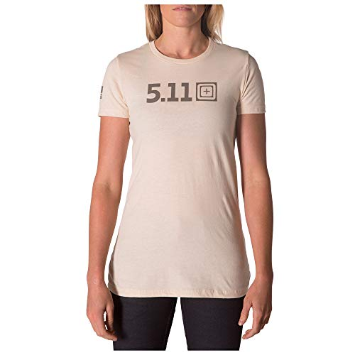 5.11 Camiseta táctica Legacy Pop para mujer, tela de algodón 100% suave, gráficos antideslizantes, estilo 31014AALF