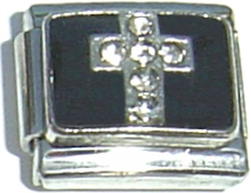Cross Black Italian (Cross On Black Italian Charm)