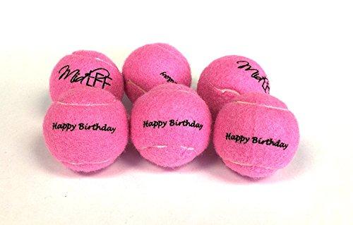 Midlee Happy Birthday Dog Tennis Balls (6 Pack)