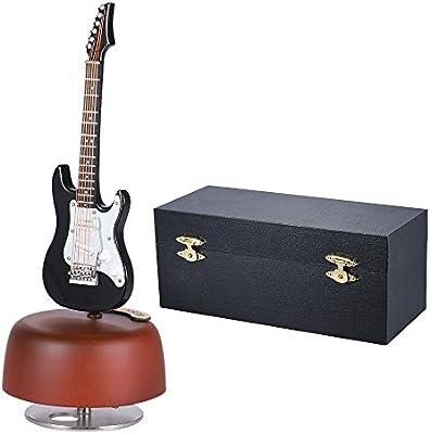 Ammoon clásica Wind Up negro guitarra eléctrica caja de música ...