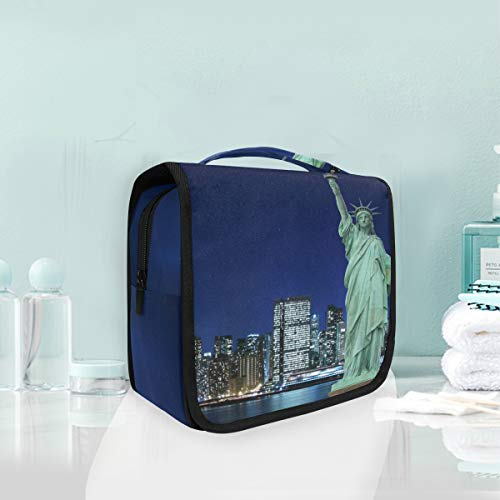 Toiletry Bag Manhattan Skyline And The Statue Of Liberty Portable Makeup Storage Cosmetic Bag -