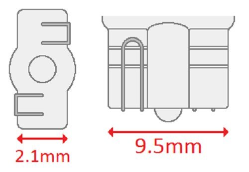 3 W T-3.25 shape CEC Industries #2841 Bulbs 24 V Box of 10 W2.1x9.5d Base