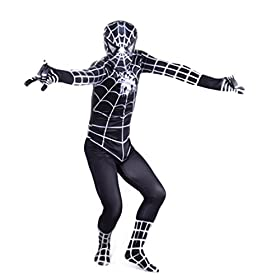 - 41qK7DwNCXL - Wraith of East Black Superhero Boys Halloween Costume Cosplay Full Bodysuit Zentai