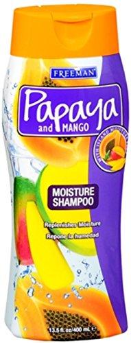 Freeman Papaya and Mango Massive Moisture Shampoo 13.50 oz (Pack of 2) (Freeman Papaya)