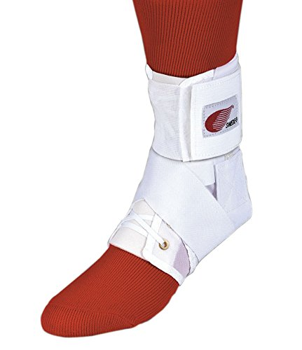 Strap Lok Ankle Brace, Figure 8, Elastic Back, White, Small,