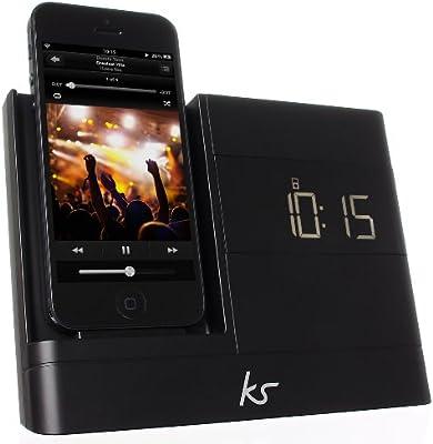 Genuine Kitsound iPhone 8//7//6S//5S//SE LCD Clock Radio Lightning USB Charging Dock