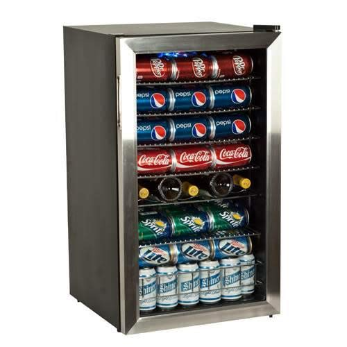 - EdgeStar BWC120SS 103 Can and 5 Bottle Extreme Cool Beverage Cooler - Stainless Steel