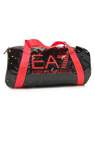 EA7 Emporio Armani Sporttasche Beach Mesh W Cabin Duffle - Reisetasche/ Fitness-Tasche klein Unisex aus Mesh, wasserdicht, Logo, Reißverschluss - Black