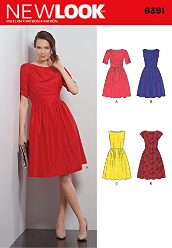 New Look Sewing Pattern UN6391A Autumn Collection Misses' Dresses Sewing Patterns, A (8-10-12-14-16-18) ()