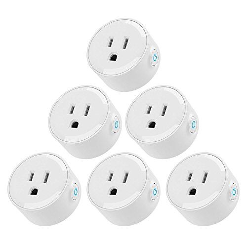 Wi-Fi Smart Plug, Mini Outlets work with Alexa, Voice APP Remote Control Socket from Anywhere with Timer Function, No Hub Required, 6 Pack by TORCHSTAR (Image #1)