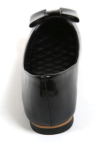 negro Zq semicuero Yyz Uk5 casual 5 us7 Cn41 Black tac¨®n Cn38 5 Punta Zapatos Redonda De Black Eu38 comfort Eu40 planos Mujer Plano us9 Uk7 PPBr7xq
